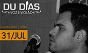 Folder do Evento: Du Dias voz e violão no Boteco do André