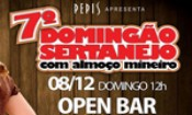 Folder do Evento: 7 Domingão Sertanejo com almoço Mineiro