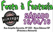 Folder do Evento: 1º Festa a Fantasia + DJ Eduardo