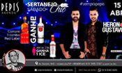 Folder do Evento: Sábado Sertanejo Chic - Heron & Gustavo