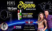 Folder do Evento: Festa dos Signos na Pepis - Aquário e Pe
