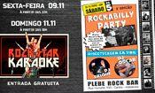 Folder do Evento: Karaoke Plebe Rock Bar - Às sextas-feira