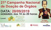 Folder do Evento: Campanha de Doação de Órgãos
