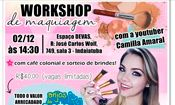 Folder do Evento: Workshop de Maquiagem em prol da ONG