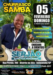 Folder do Evento: Churrasco com Samba