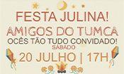 Folder do Evento: Festa Julina Amigos do TUMCA