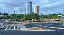Prefeitura faz adequação de transito na rotatória do Parque Ecológico
